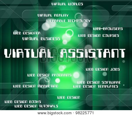 Virtual Assistant Represents Out Sourcing And Assistants