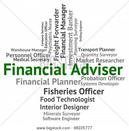 Financial Adviser Shows Aide Commerce And Tutor