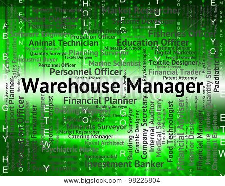 Warehouse Manager Shows Director Job And Depository