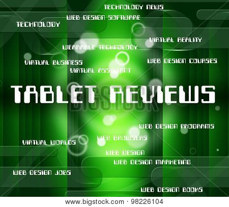 Tablet Reviews Means Processor Computers And Inspection