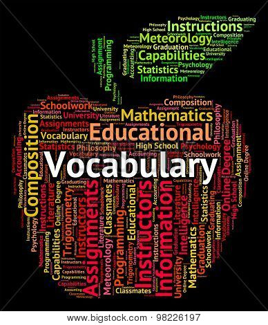Vocabulary Word Means Dictionaries Vocabularies And Text