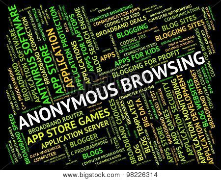 Anonymous Browsing Indicates Browser Undesignated And Unidentified