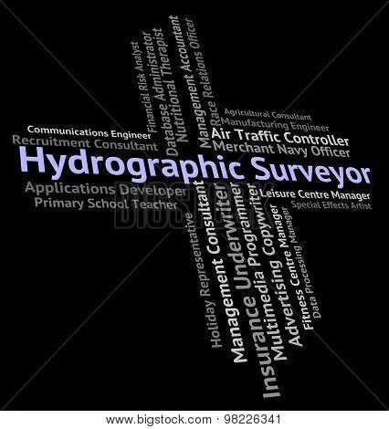Hydrographic Surveyor Represents Surveys Position And Coastal