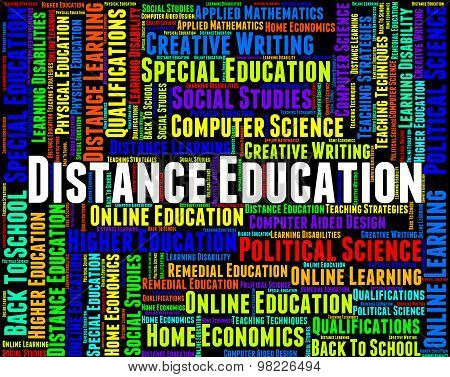 Distance Education Words Means Correspondence Course And Development