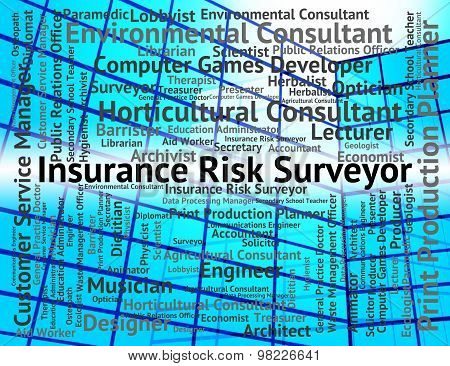 Insurance Risk Surveyor Indicates Position Policies And Surveying
