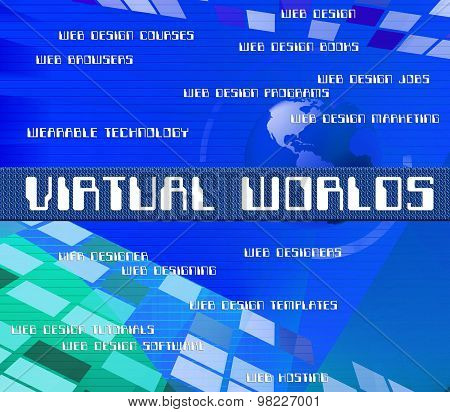 Virtual Outsource Indicates Contracting Earth And Worlds