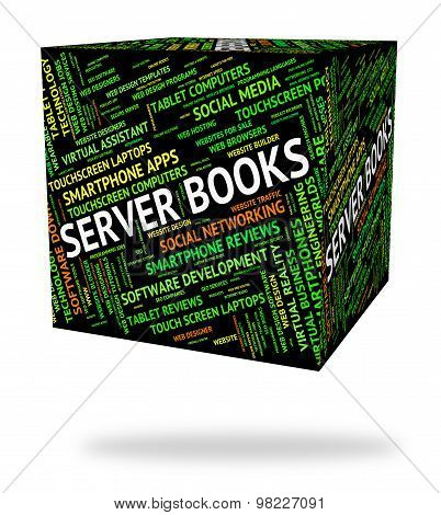 Server Books Indicates Computer Servers And Fiction
