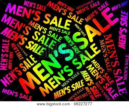 Men's Sale Means Person Offers And Offer