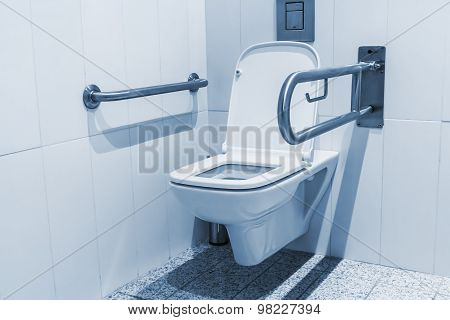 Public Toilet Cubicle For The Disabled