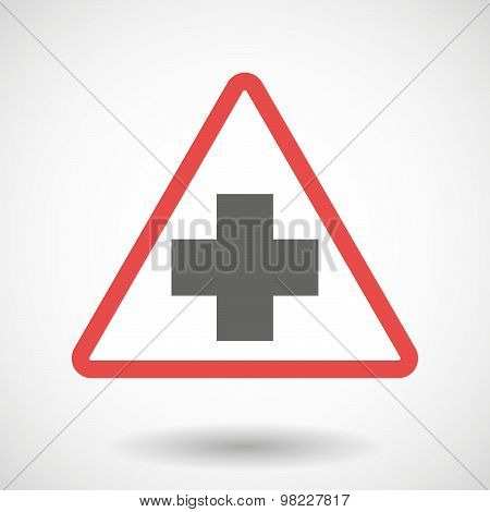 Warning Signal With A Pharmacy Sign