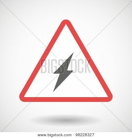 Warning Signal With A Lightning
