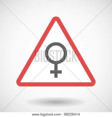 Warning Signal With A Female Sign