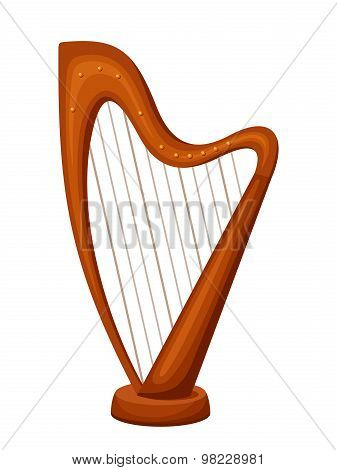 Harp. Vector illustration.