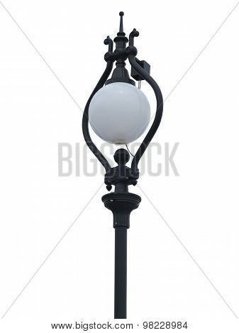 Stylish Street Lamppost Isolated On White