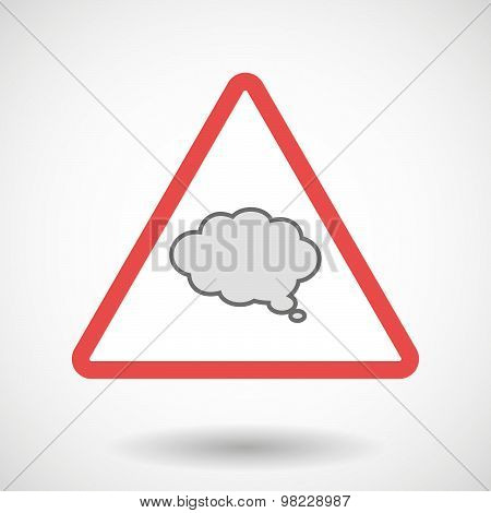 Warning Signal With A Comic Cloud Balloon