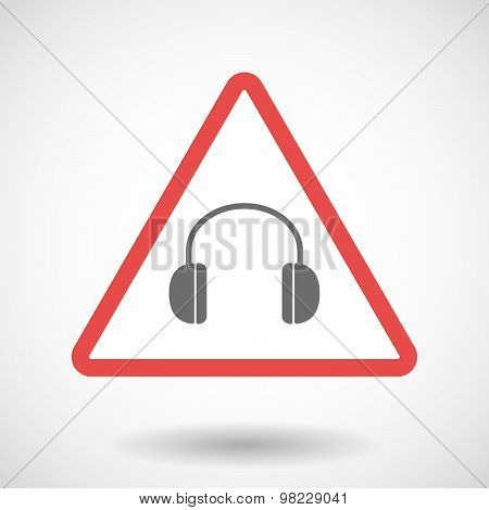 Warning Signal With A Earphones