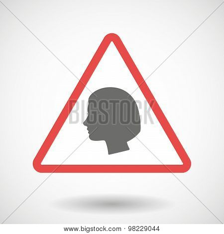Warning Signal With A Female Head