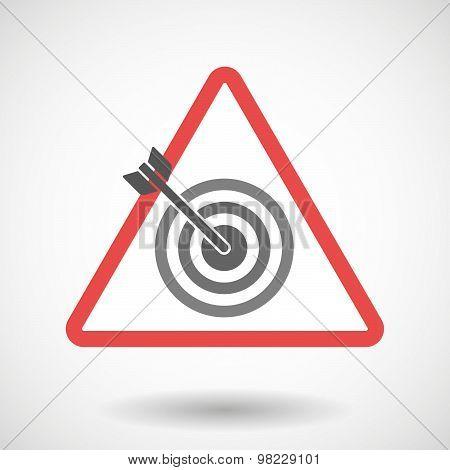 Warning Signal With A Dart Board