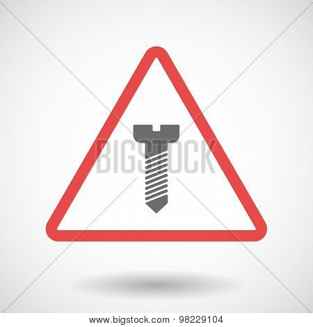 Warning Signal With A Screw