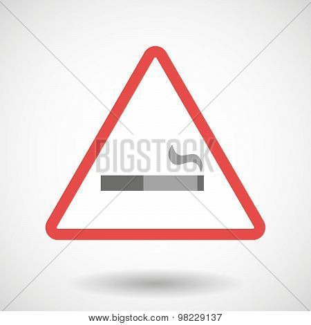 Warning Signal With A Cigarette