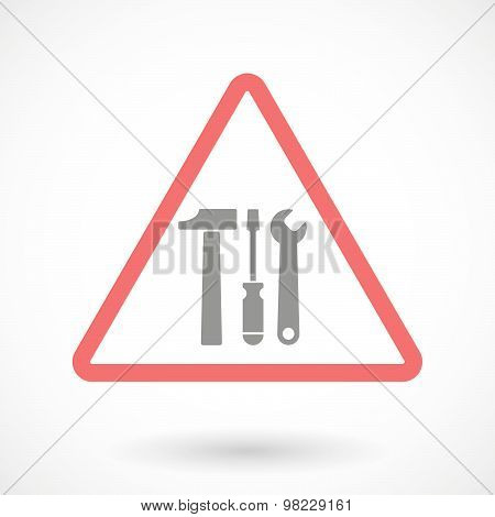 Warning Signal With A Tool Set