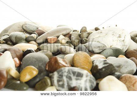 Pile of river rocks