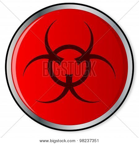 Red Bio Hazard Emergency Button