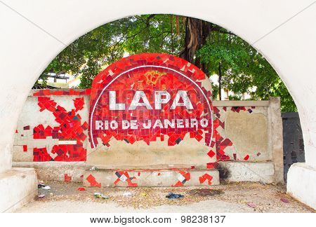RIO DE JANEIRO - APRIL 23, 2015: Pablic passage in Lapa quarter on April 23, 2015,Rio de Janeiro, Brazil.