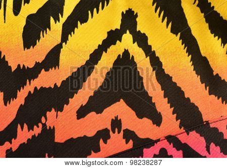 Pink, Orange, Yellow Zebra Pattern