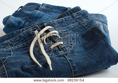 Jeans Clothes On White