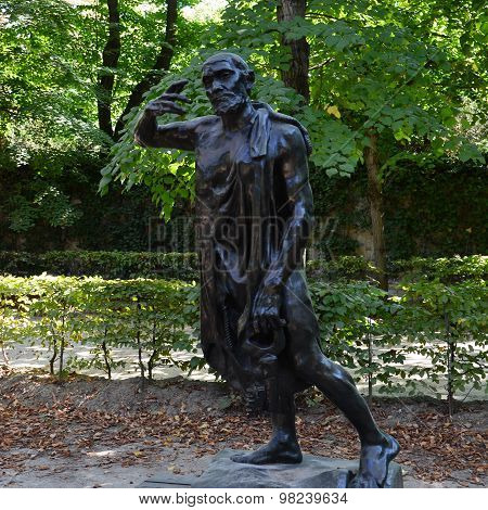 PARIS, FRANCE - SEPTEMBER 12, 2014: Statue in Rodin Museum in Paris ** Note: Soft Focus at 100%, best at smaller sizes
