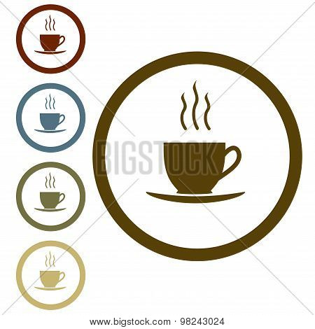 Coffee or tea cup icon. Vector.