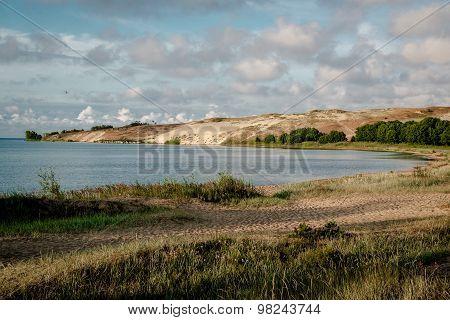 Curonian Lagoon In Nida Resort Town. Neringa, Lithuania