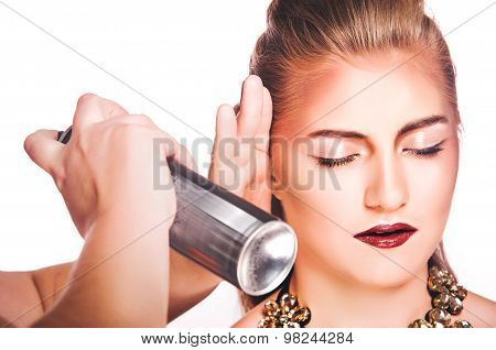 Hair Spray, Women On White Background