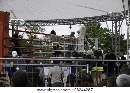 A Boxing Match At A Tournament In Honor Of Independence Day June 12, 2015, In St. Petersburg, Russia