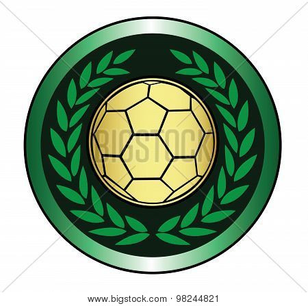 Golden soccer ball icon