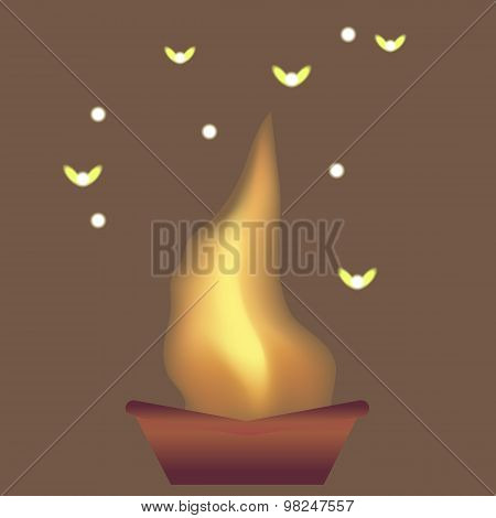 Flames and moths