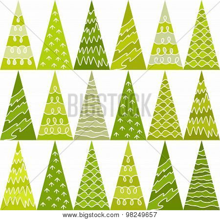 Spruce, Trees, Green, New Yea...
