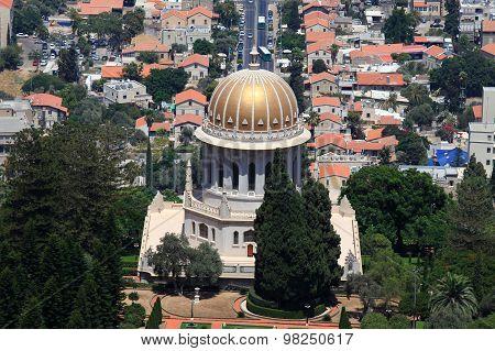 Bahai temple and gardens in Haifa, Israel