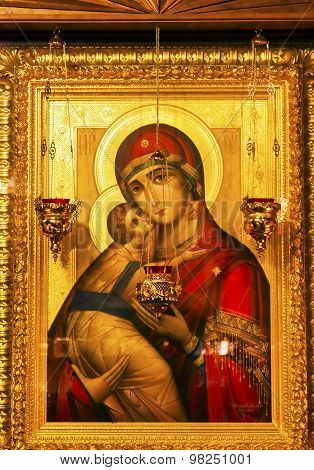 Golden Saint Barbara Icon Basilica Saint Michael Cathedral Kiev Ukraine