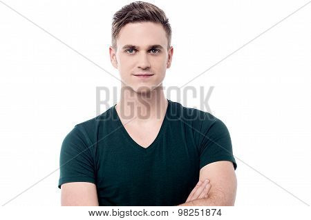 Confident Casual Young Man