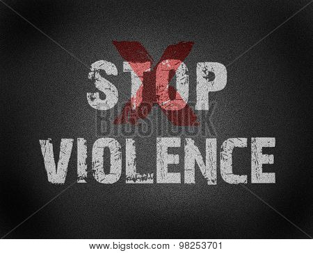 Text For Stop Violence On Grunge Background
