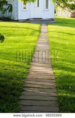 Footpath near a house