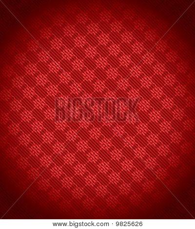 Red Xmas Snowflake Background