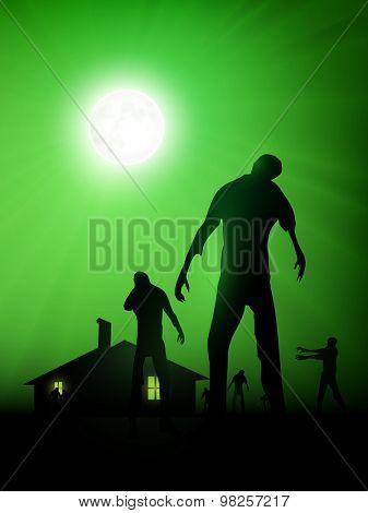 vector zombie illustration
