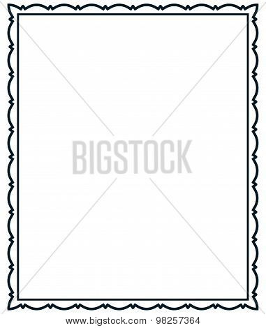 Vector Frame Vintage Isolated On White