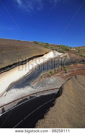 Road To Teide Volcano. Canary Islands, Tenerife.