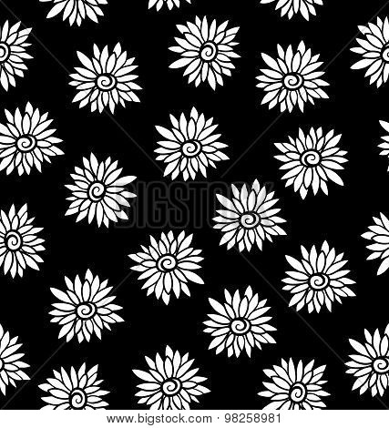 Ornate Floral Seamless Texture. Seamless Pattern Can Be Used For Wallpaper, Pattern Fills, Backgroun