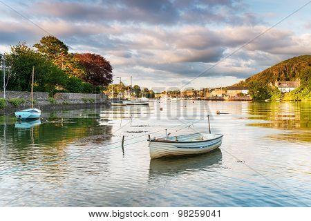 Boats At Millbrook In Cornwall