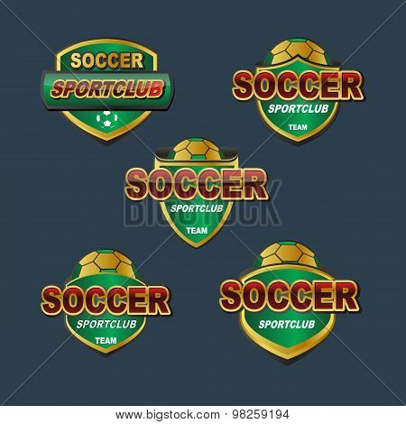 Vector badge soccer football sport banners